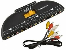 BlueBeach 4 Way Phono RCA S-Video Composite Selector Switch Box - 4 In 1 AV, 1