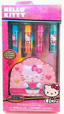 HELLO KITTY  by Sanrio 4 pack LIP BALM in fruity flavors with collectable tin  J