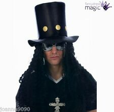 *Slash Rock Guitar Man 80's Fancy Dress Party Hat And Wig Guns N Roses Costume*