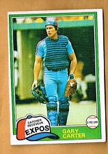 1981 OPC Gary Carter #6  GRAY BACK