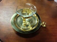 Partylite Brass Ships Bell Candle Holder / Sconce