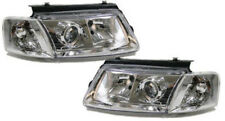 Chrome clear finish headlights front lights facelift look for VW Passat 3B 96-00
