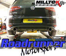 "Milltek Golf MK7 GTD 2.0 TDi 185PS 3"" Cat Back Exhaust NonRes GTI Style SSXVW247"