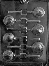 GOLF BALL LOLLY POP mold Chocolate Candy Soap molds party favors sports
