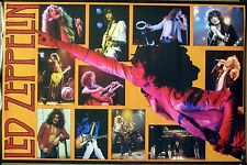 Led Zeppelin 24x36 (Yellow) Live Concert Collage Poster 1985