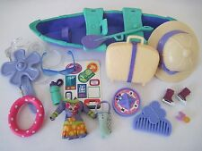 Littlest Pet Shop Blythe Doll 17 PC Accessories Lot Clothes Hat Canoe Luggage
