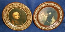 Vintage Pair Rembrandt Collector Metal Plates 3100 & 3101 The Ohio Art Company