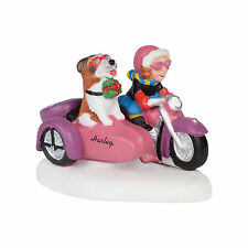 Dept 56 North Pole Harley-Davidson Rebel with a Dog #4035575 New in Box Retired