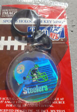 PITTSBURGH STEELERS NFL IMAGES HOLOGRAM KEY CHAIN KEYCHAIN KEY RING FOOTBALL