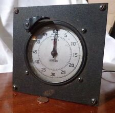 Antique Standard Electric Time Model S-60 Industrial Timer Working STEAMPUNK