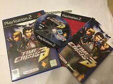 PAL PLAYSTATION 2 PS2 GUN GAME TIME CRISIS 3 / III +BOX INSTRUCTIONS COMPLETE