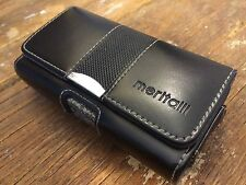Meritalli iPhone Case Genuine Leather Black 3G/3GS/4 360 deg swivel belt clip