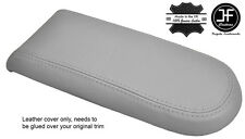 GREY GENUINE LEATHER ARMREST LID COVER FOR VW GOLF MK4 JETTA GTI 1998-2005