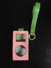 AUTHENTIC KATE SPADE Leather iPod Nano Case Pink and Green with Gold Hardware