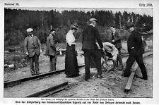 Prinz Heinrich besichtigte die zerstörte Strecke bei der Station Tschita c.1912