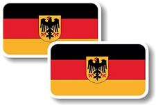 Vinyl sticker/decal Small 70mm Germany crest flag - pair