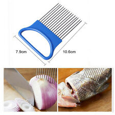 Stainless Steel Onion Vegetable Tomato Holder Slicer Cutter Kitchen Gadget Tools