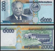 Laos 2,000 Kip, 2011  P41 Mint Unc