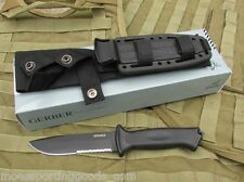 Gerber Prodigy Partially Serrated Combat Tactical Knife with MOLLE Sheath  G1121