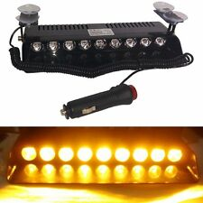 NEW 9 LED CAR DASH STROBE LIGHTS FLASH EMERGENCY WINDWSHIELD WARNING SAFETY