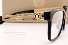 Brand New VERSACE Eyeglass Frames 3218 GB1 BLACK Women Men 100% Authentic SZ 55