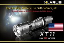 NEW Klarus XT11 XM-L 600 Lumen 18650 CR123 Dual Switch Tactical Flashlight