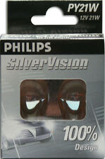 PHILIPS SILVERVISION PY21W INDICATOR BULBS (581) 100% DESIGN