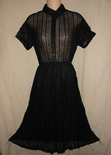 BRANDY USA NWT Melville Black Sheer Lace Dress Rockabilly Grunge S M Goth Retro