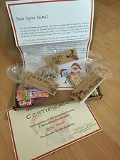Personalised santa box, reindeer food, stocking filler sweets, candy, letter,