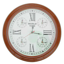 Handmade Clock of the Ticking Moments Wooden World Wall Mounted Home Decor