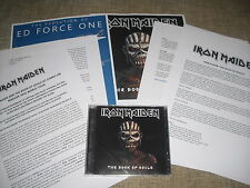 IRON MAIDEN - THE BOOK OF SOULS - 2xCD SET + 2 x RARE PROMO PRESS RELEASE KIT