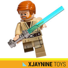 LEGO STAR WARS Clone General Obi Wan Kenobi Minifig Ep.3 Version + Lightsaber