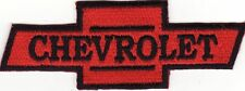 """Chevrolet 4 1/8"""" x 1 1/2"""" Red Embroidered Iron On Car Patch *New*"""