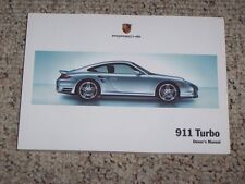 2007 Porsche 911 Turbo Owner User Manual Book Coupe S 3.6L 997 AWD