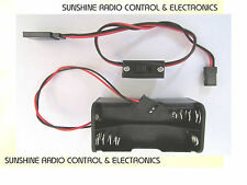 RC Receiver Battery Pack Box And Switch 4 X AA Cell Futaba Traxxas Compatible UK