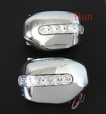 MITSUBISHI L200 ANIMALI GUERRIERO Triton Chrome DOOR MIRROR COVER CON LED Trim 06