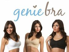 1-XXL 2X 2XL Extra Large Nude Tan Classic Comfy Genie Bra W/ Pads As Seen On TV