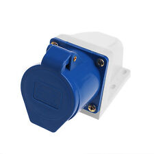 32 Amp 3pin Industrial Socket 220V-250Volt Weatherproof IP44 Waterproof 2P+E 32A