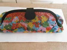 """VINTAGE FENDI--MADE IN ITALY-- BEADED CLUTCH/SHOULDER BAG-16 1/2"""" X 12"""" X 1 1/4"""""""