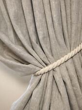 NEW Pair of 100% Linen BLACKOUT Lined Bespoke 2.29cm LONG 2.80cm Wide CURTAINS