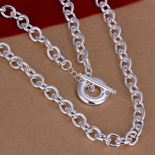 hot! wholesale Sterling solid silver fashion jewelry Chain Necklace XLSN101