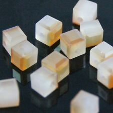 20pcs 4mm Swarovski cube crystal beads A white  wine red