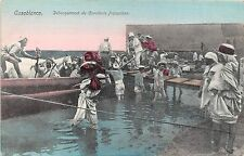 POSTCARD  MILITARY   MOROCCO  CAMPAIGNS  CASABLANCA French Cavalery Disembarking