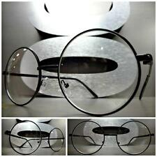 Men Women CLASSIC VINTAGE Style Clear Lens EYE GLASSES Round Black Fashion Frame