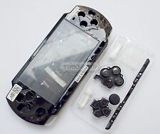 Black Housing Faceplate Case Cover for PSP 2000 Slim