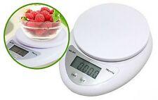 Bilancia Elettronica Da Cucina Digitale Pesa Alimenti Max 5kg hsb