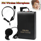 Wireless FM Transmitter Receiver Lapel Clip&Headset Mini Microphone Mic System