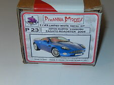 1/43 KIT WHITE METAL PIRANHA ASTON MARTIN VANQUISH ZAGATO ROADSTER 2004