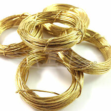 6m LENGTHS BRASS PICTURE WIRE PHOTO FRAMES MIRRORS WALL HANGING DIY WIRE No. 1