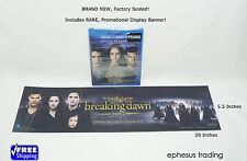 Twilight Triple Feature Blu-ray Digital HD New Moon Eclipse + Display Banner NEW